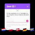 Mehrsprachige Newsletter Popups für Online Shops