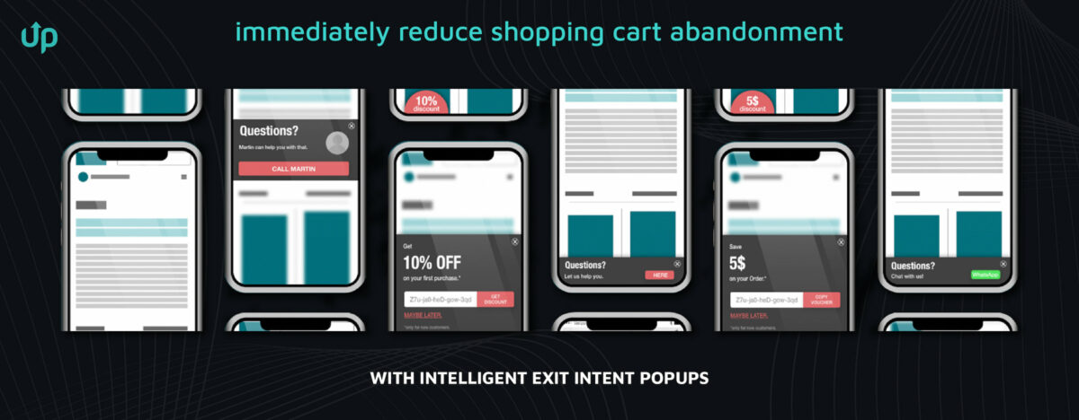 prevent shopping cart abandonment exit intent