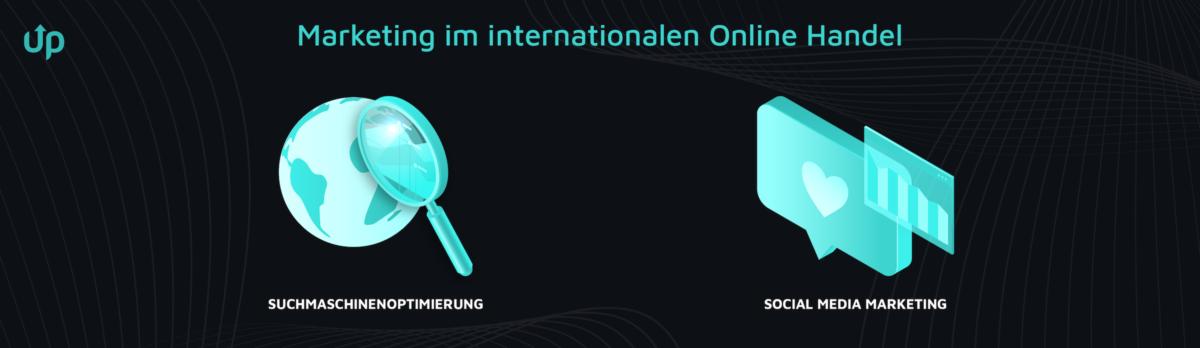 internationaler online shop marketing