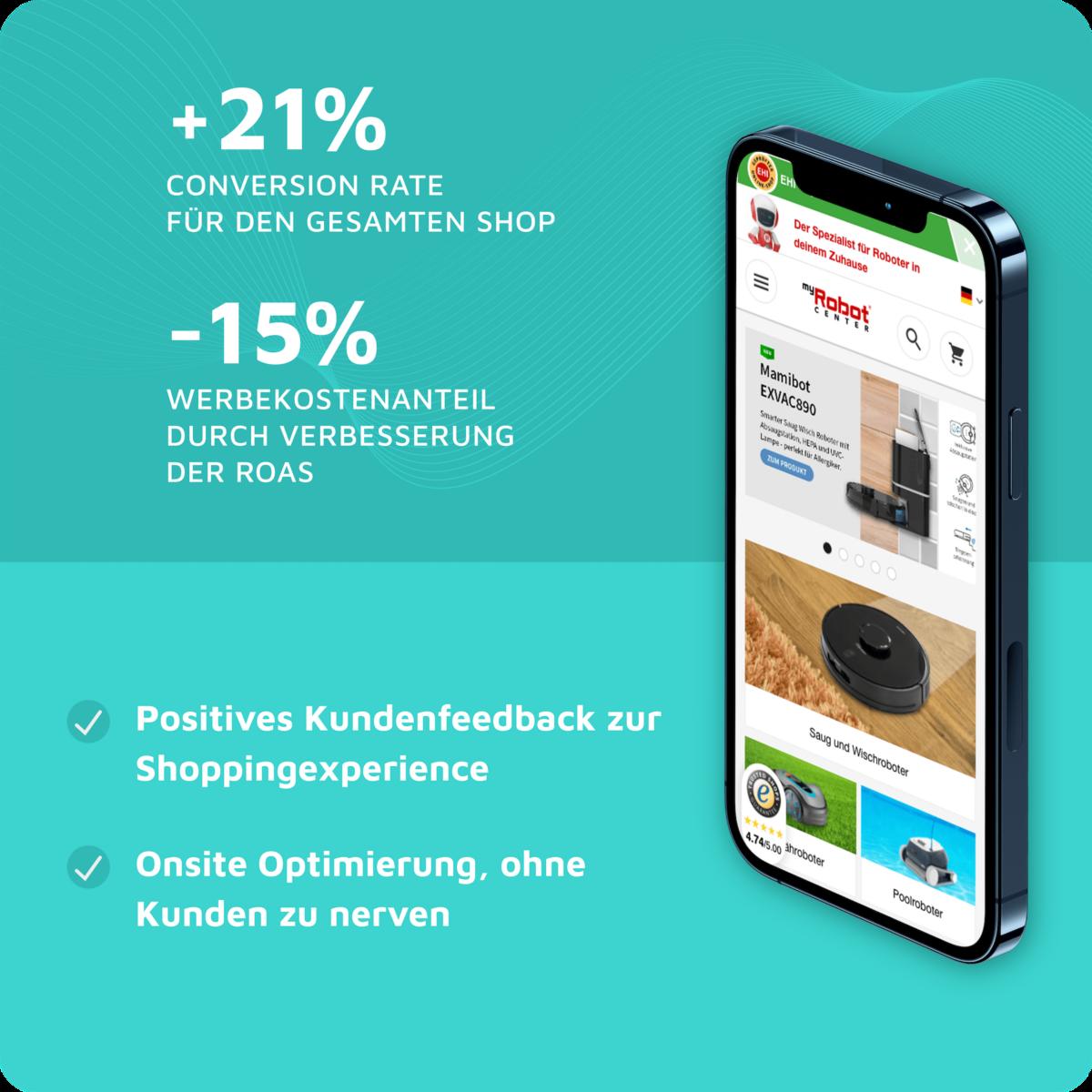 myRobotCenter online Shp reduziert Kaufabbrüche