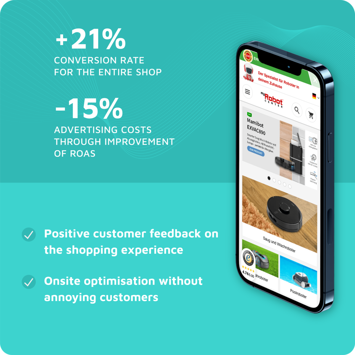 MyRobotCenter Onlineshop reduces Shopping Cart Abandonment